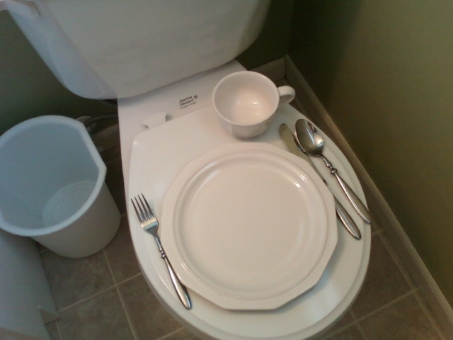 Image result for eating off a toilet